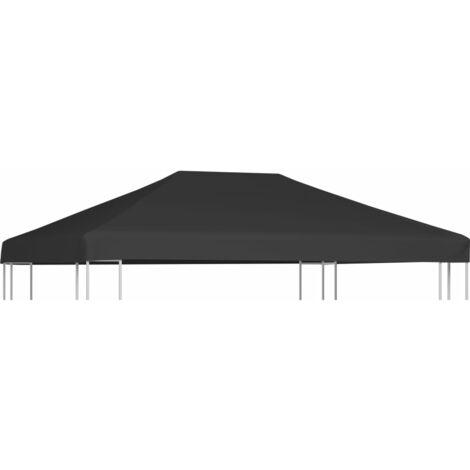Gazebo Top Cover 310 g/m² 4x3 m Grey