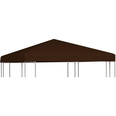 Gazebo Top Cover 310 g/m2 3x3 m Brown