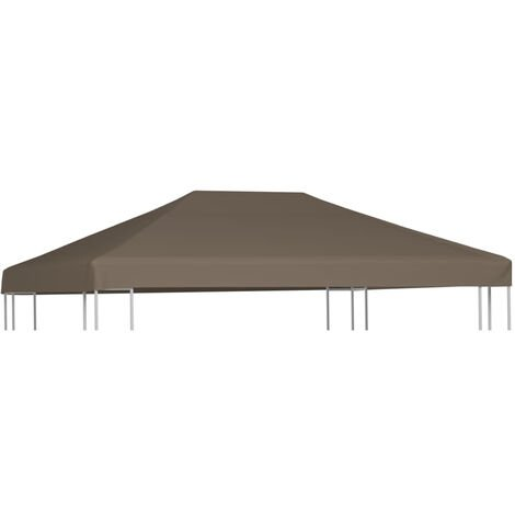 Gazebo Top Cover 310 g/m2 3x3 m Taupe