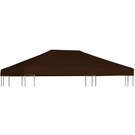 Gazebo Top Cover 310 g/m2 3x4 m Brown