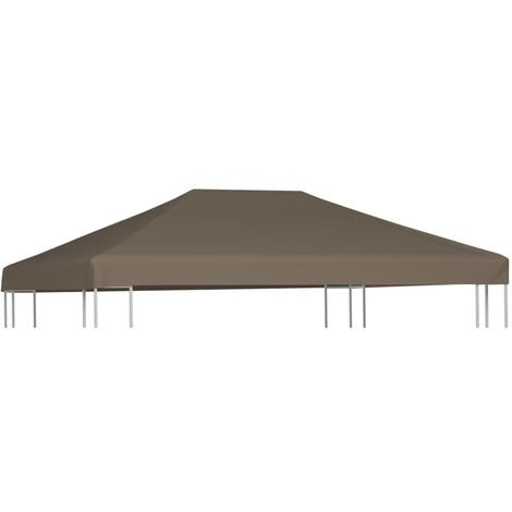 Gazebo Top Cover 310 g/m2 3x4 m Taupe