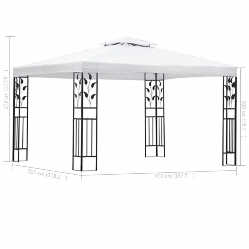 vidaXL Party Tent 3x3m PE Anthracite Outdoor Patio Gazebo Canopy Marquee Shade