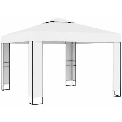 Gazebo with Double Roof 3x3 m Cream