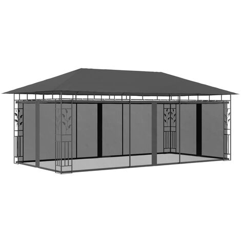 Gazebo with Mosquito Net 6x3x2.73 m Anthracite