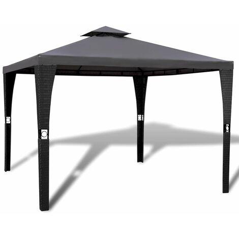 Gazebo with Roof 3x3 m Dark Grey