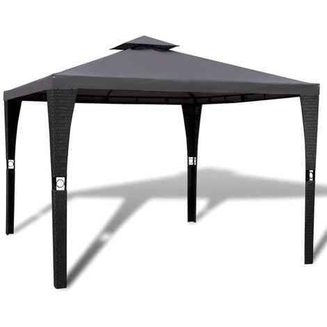 Gazebo with Roof 3x3 m Dark Grey - Grey