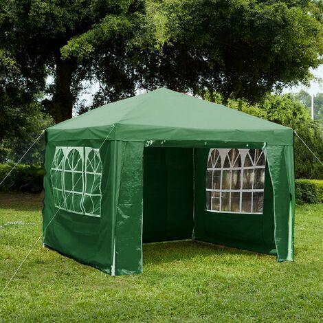 Gazebo With Sides 3x3m, Green