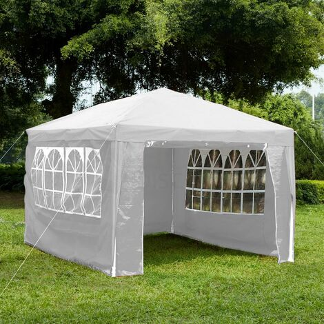 Gazebo With Sides 3x4m, White