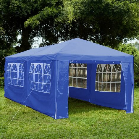 Gazebo With Sides 3x6m, Blue