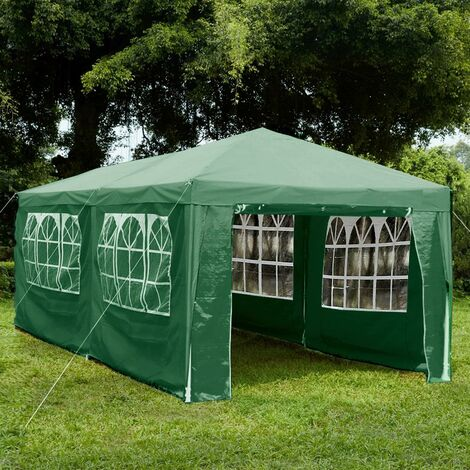 Gazebo With Sides 3x6m, Green