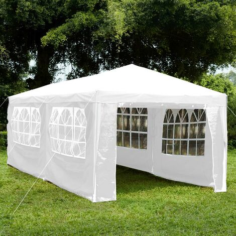 Gazebo With Sides 3x6m, White