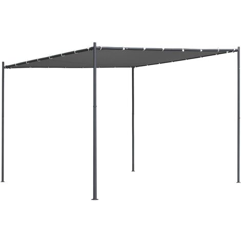 Gazebo with Slanted Roof 300x300x251 cm Anthracite 180 g/m²