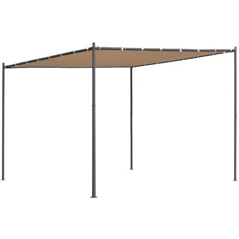 Gazebo with Slanted Roof 300x300x251 cm Beige 180 g/m²