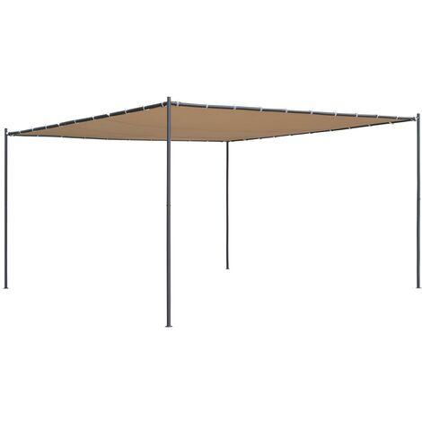Gazebo with Slanted Roof 400x400x264 cm Beige 180 g/m²