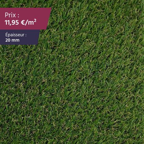 "Gazon artificiel Gazon synthétique pelouse synthétique pelouse artificielle | Épaisseur : 20 mm | Largeur : 4m | Collection ""Siracuse"""