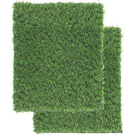 Gazon Artificiel pour Chiens Tapis d'herbe pour Chien Professionnel Faux Gazon avec Sortie de vidange Facile à Nettoyer pour l'entraînement Décoration de pelouse de terrasse intérieure