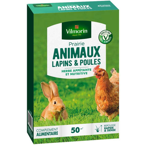 Gazon Prairie lapins et poules 500gr vilmorin