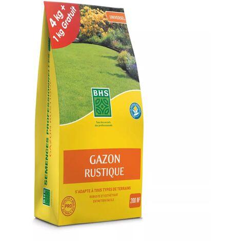 Gazon Rustique BHS, sac de 5 kilos dont 1 gratuit, 200m²