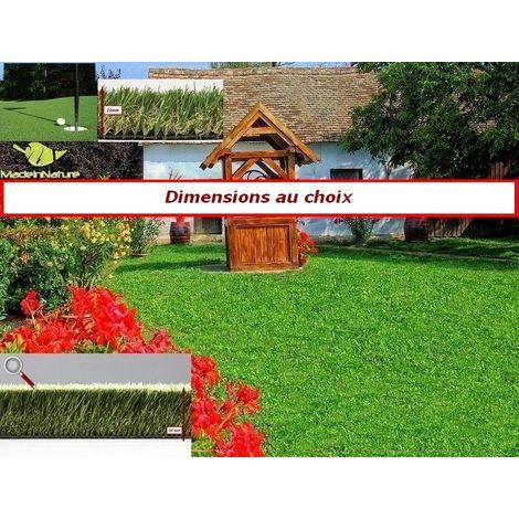 Gazon synthétique haut de gamme d'extérieur ou d'intérieur | dimensions aux choix | Pelouse touché naturel | MadeInNature®
