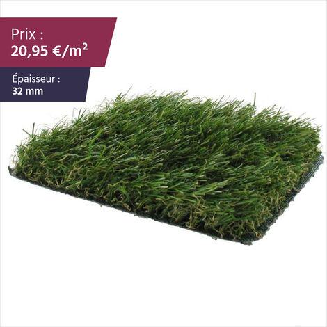 """Gazon synthétique haut de gamme Faux gazon gazon artificiel pelouse synthétique pelouse artificielle   Épaisseur : 37 mm   Largeur : 2m   Collection """"Monaco"""""""