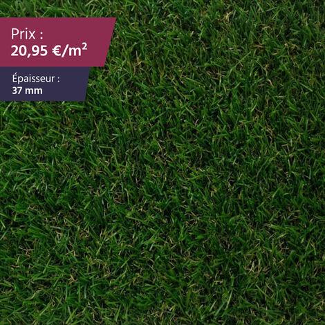 """Gazon synthétique haut de gamme Faux gazon gazon artificiel pelouse synthétique pelouse artificielle   Épaisseur : 37 mm   Largeur : 4m   Collection """"Wanderlust Dragon"""""""