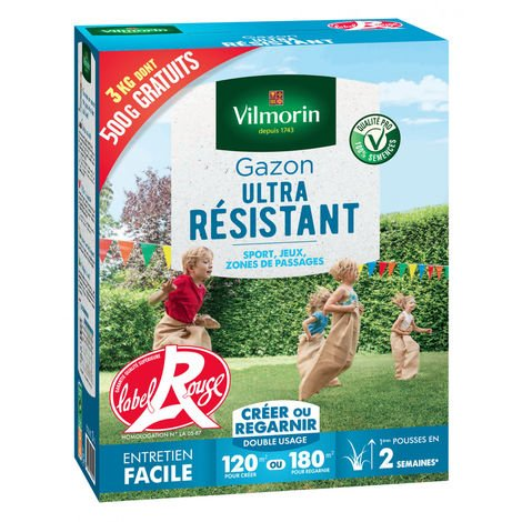 Gazon ultra résistant - Boite de 3 kgs dont 500g GRATUIT