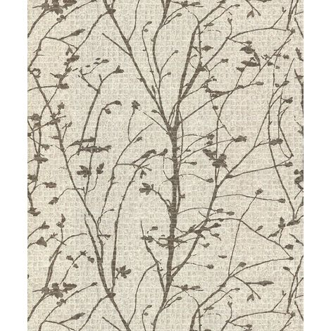 (GB1701) Ravello Texture Cream/ Gold Vinyl Wallpaper