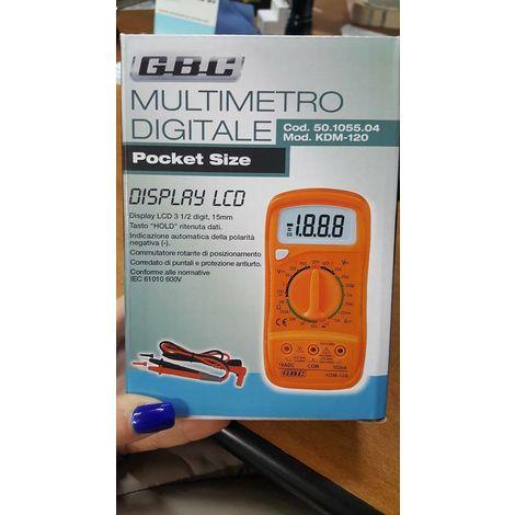 Gbc 50105504 multimetro digitale con display lcd con puntali pocket size