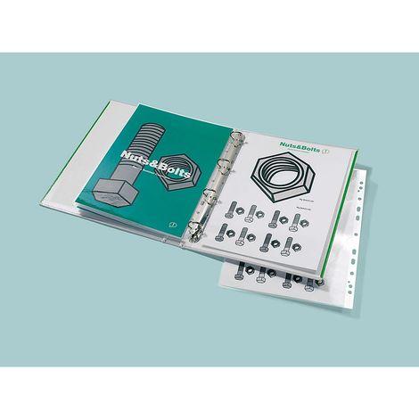 GBC Pochettes à plastifier perforées - pour format A4 - épaisseur film 125 µm, lot de 100