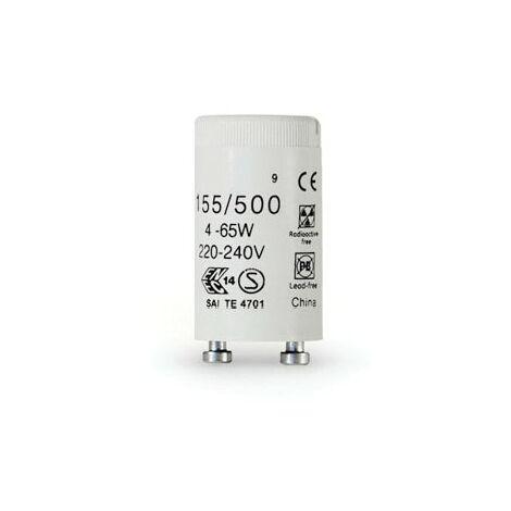 GE Lighting 36536 Fluorescent Lamp Starter 155/500 4/65W Uni G13 25WAY(PK-250)