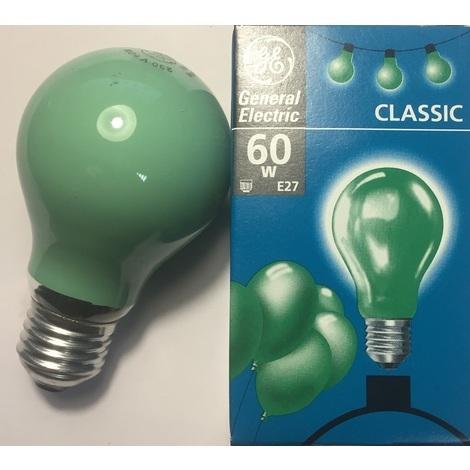 GE Lighting 37580 Ampoule incandescente Vert E27 60W 230V 1000H