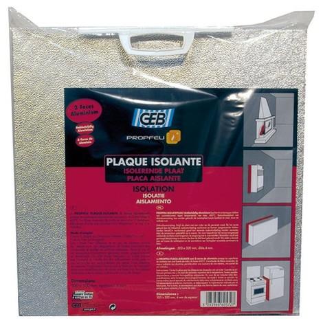 GEB - Plaque isolante - 600 °C - 2 faces aluminium - 500x500 mm
