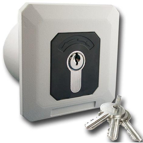 GeBa Schlüssel-Schalter Raster/Taster + PHZ Unterputz IP54