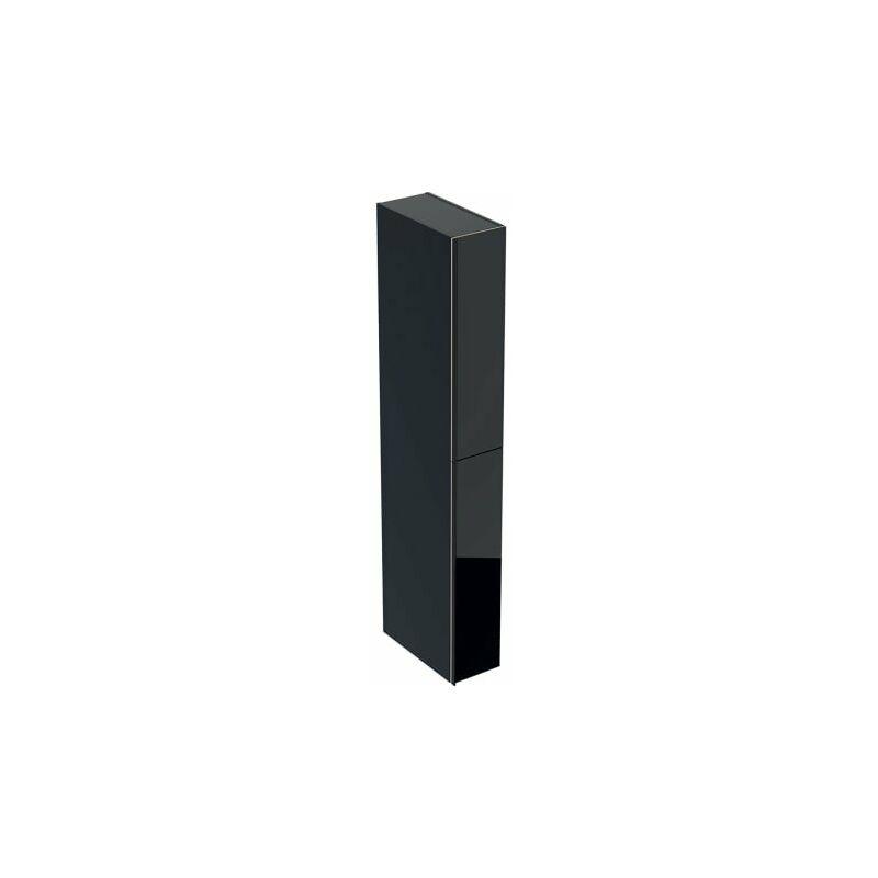 Acanto Armadio alto con cassettone farmacia 500638, 220x1730x476mm, Colore (anteriore/corpo): Vetro nero / nero laccato opaco - 500.638.16.1 - Keramag