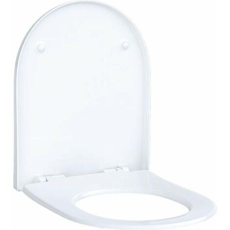 Geberit Acanto Slim siège WC avec couvercle, 500604, sans mécanisme de fermeture en douceur - 500.604.01.2