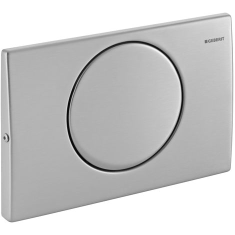 Geberit actuator plate Mambo for flush/stop release Stainless steel - 115.751.00.1