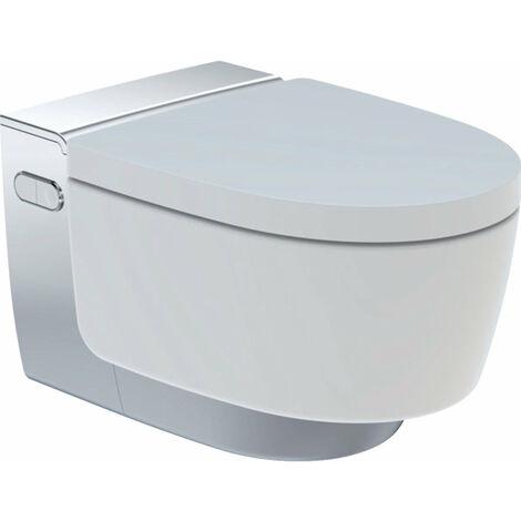 Geberit AquaClean Mera Comfort Sistema de WC completo, empotrado, WC mural, color: Cromado de alto brillo - 146.210.21.1