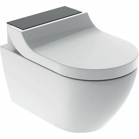 Geberit AquaClean Tuma Comfort Système de WC complet, encastré, WC mural, Coloris: Verre Noir - 146.290.SJ.1