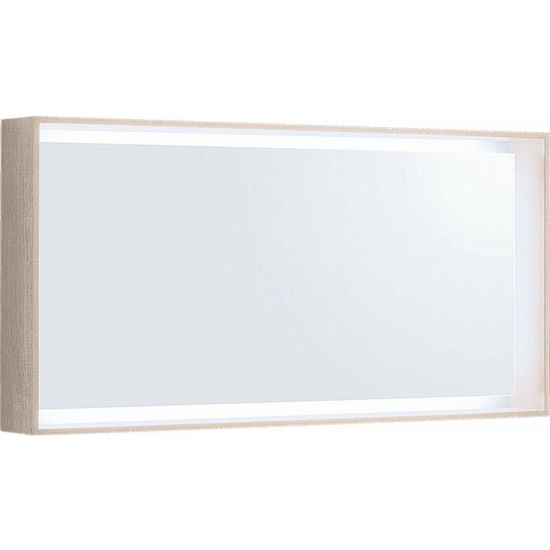 Keramag - Espejo de luz Geberit Citterio 500570JI1, 118,4x58,4x14cm, estructura de madera roble beige - 500.570.JI.1