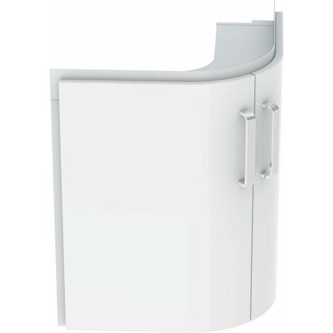 Geberit Coin lavabo Lavabo Renova Nr. 1 Comprimo New 482x605x482mm Blanc mat/blanc haute brillance - 862150000