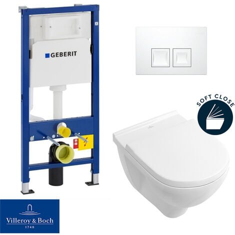 Geberit Complete WC Pack Villeroy with seat softclose (O.NovoGeberit1)