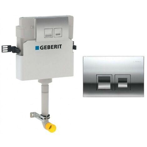 Geberit Delta 50 Concealed Toilet Cistern 12cm & Gloss Chrome Flush Plate