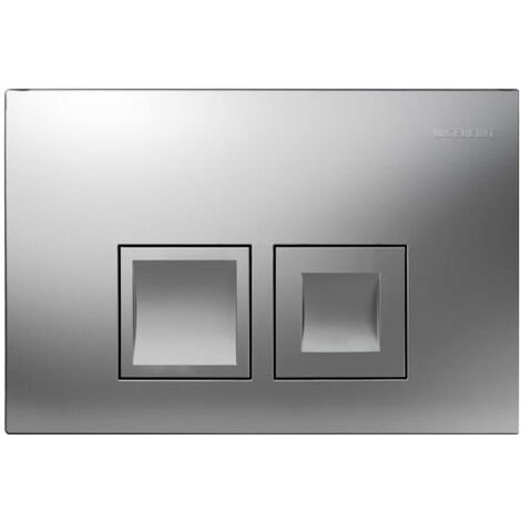 Geberit Dual flush plate DELTA50 mate chrome (115.135.46.1)