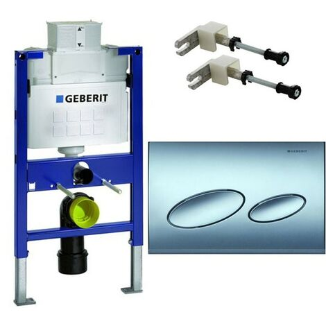 Geberit Duofix 0.82m WC Toilet Frame UP200 Cistern + KAPPA20 Chrome Plate