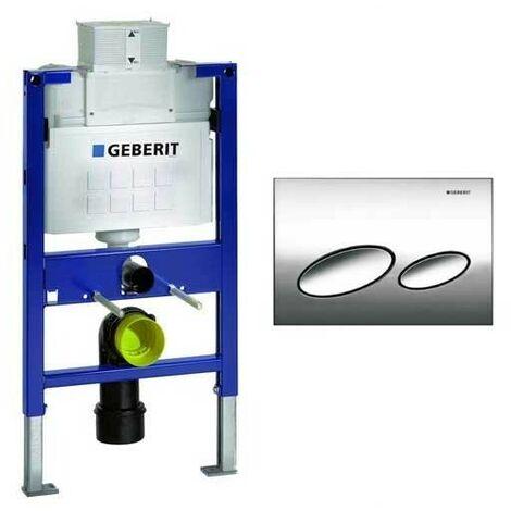Geberit Duofix 0.82m WC Toilet Frame UP320 Kappa Cistern + KAPPA20 Gloss Chrome