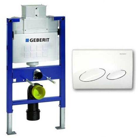 Geberit Duofix 0.82m WC Toilet Frame UP320 Kappa Cistern + KAPPA20 White Flush