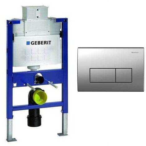 Geberit Duofix 0.82m WC Toilet Frame UP320 Kappa Cistern + KAPPA50 S/Steel Flush