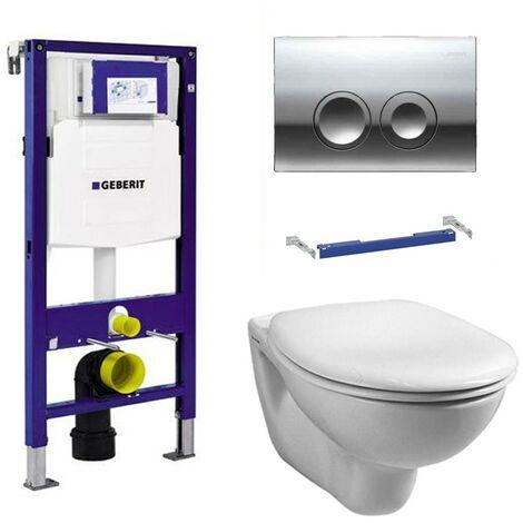Geberit Duofix 1.12m WC Frame UP100 Delta Cistern & Delta21 Flush Plate & Pan