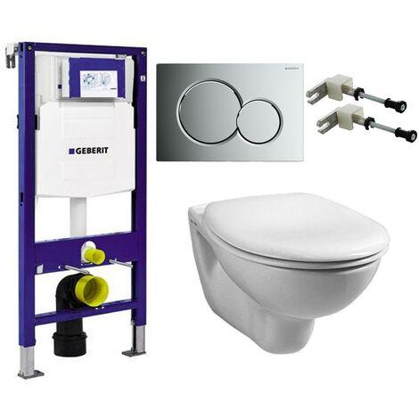 Geberit Duofix 1.12m WC Frame UP320 Sigma Cistern & Sigma01 Flush Plate & Pan