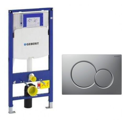 Geberit DuoFix 320 Pack + Control Plate Sigma 01 Matte Chrome (SETUP320-PRO3)